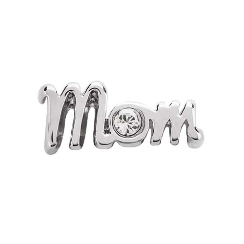 BS1015 Silver Mom Slider with Swarovski Crystal V1 X2 copy